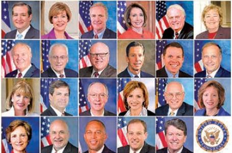 美國國會23位參、眾議員致信聲援法輪功學員。(大紀元合成圖)