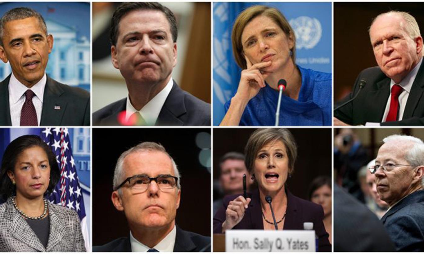 美國前總統奧巴馬政府在2016年總統選舉期間,至少採用了五種手法涉嫌監視共和黨候選人特朗普的競選活動。(Getty Images/EET合成圖)