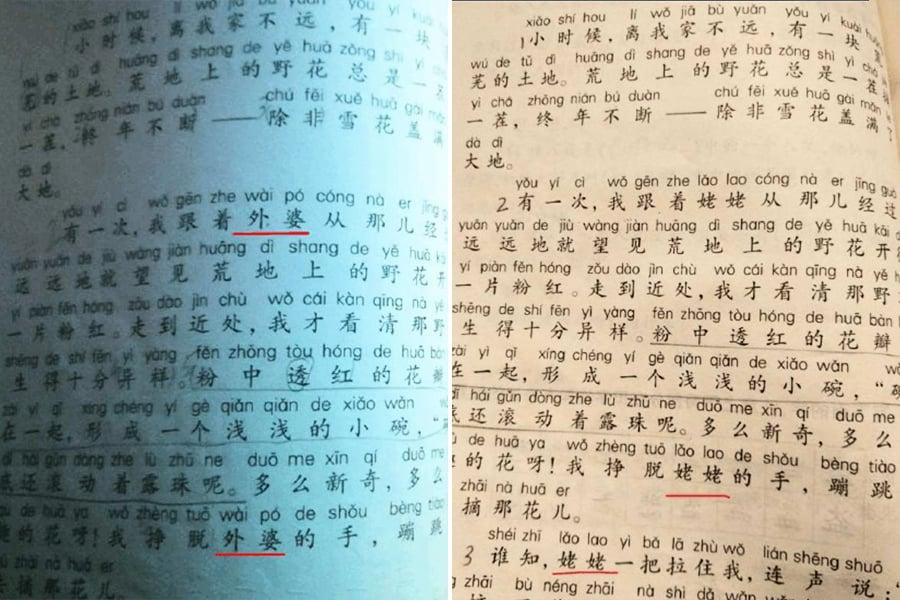 遭民眾抵制 上海教委將「姥姥」改回「外婆」