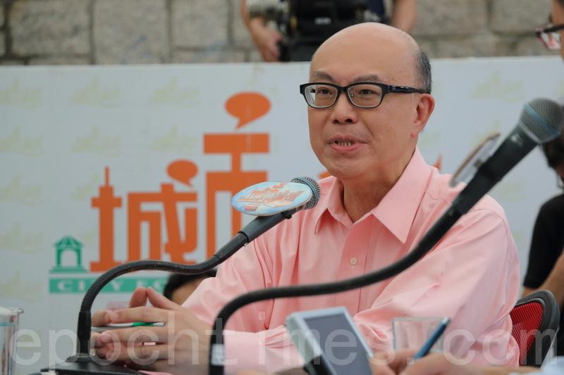 華懋集團執行董事兼行政總裁蔡宏興憂慮,空置稅或會轉嫁到買家。(蔡雯文/大紀元)