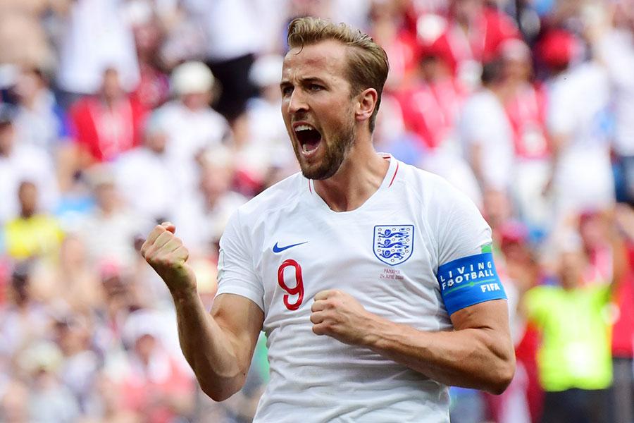 哈利卡尼成為歷史上第三個在世界盃上演帽子戲法的英格蘭球員。(MARTIN BERNETTI/AFP/Getty Images)
