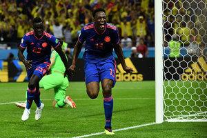 H組第二輪:哥倫比亞3:0淘汰波蘭