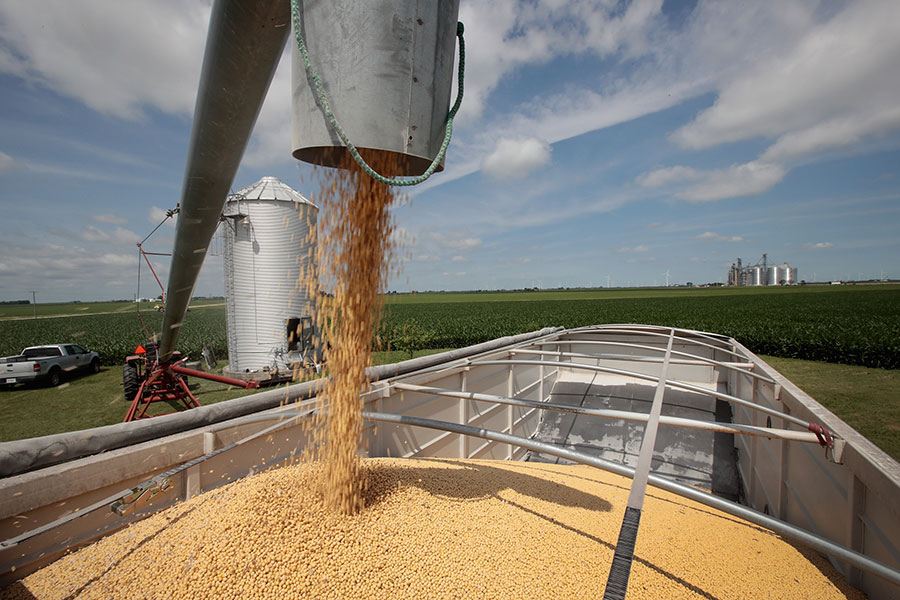 中美貿易衝突升級,中共將美國大豆加徵25%的關稅。據貿易統計數據顯示,中國對大豆的需求量超過美國以外其它來源的供應量,中共此舉恐無法達到目的。(Scott Olson/Getty Images)