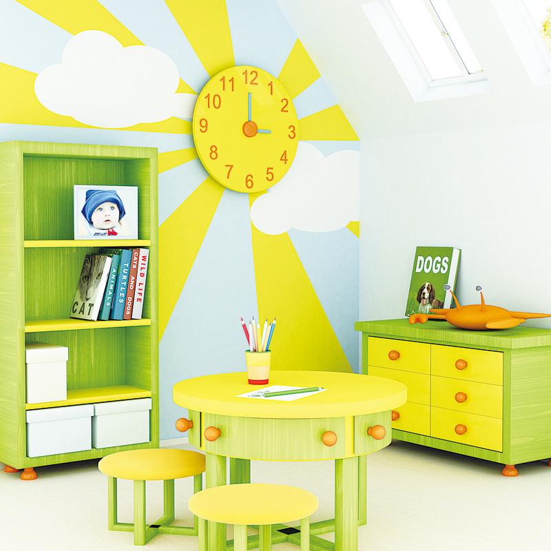 兒童房可以選擇豐富的色彩,這樣可刺激創造力,也為小孩提供了多元的生活環境。