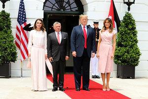 約旦國王阿卜杜拉讚賞特朗普的謙卑和風度