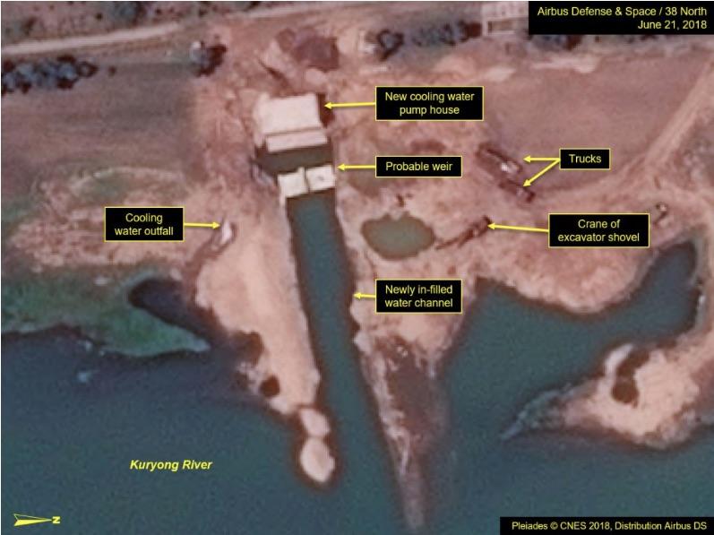 衛星圖像顯示北韓正在對核研究的基礎設施進行大量改進,其棄核誠意被質疑。(38 North網頁擷圖)