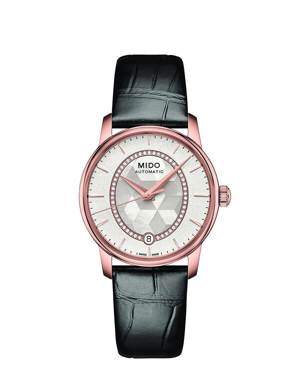 Baroncelli ll Prisma永恆系列晶燦鑲鑽女錶。 (MIDO)
