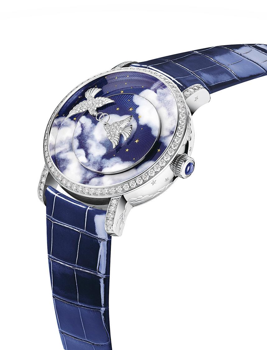 CHAUMET 白鴿複雜功能腕錶。 (CHAUMET)