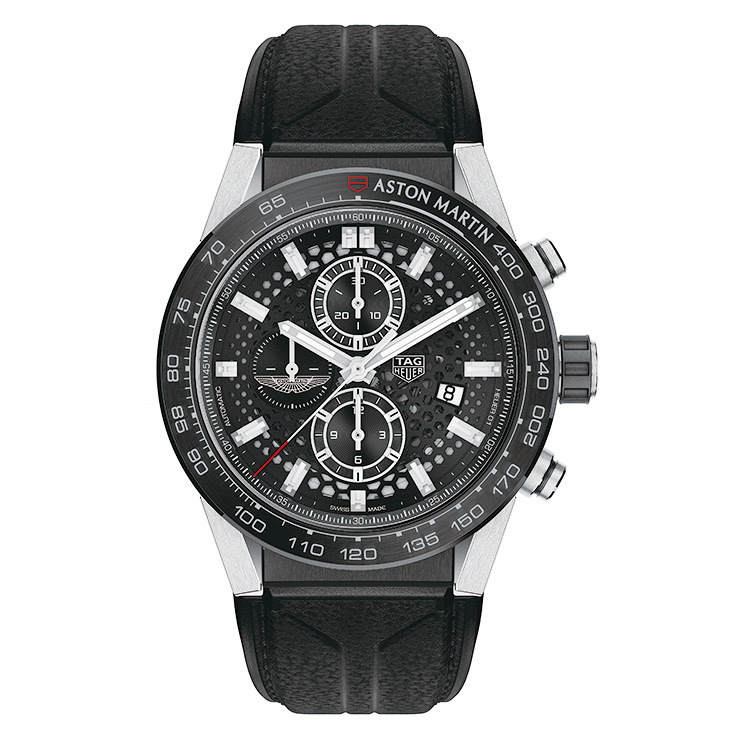 TAG HEUER X ASTON MARTIN特別版計時碼錶。 (TAG HEUER提供)
