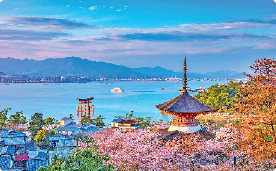 嚴島神社莊嚴華麗。