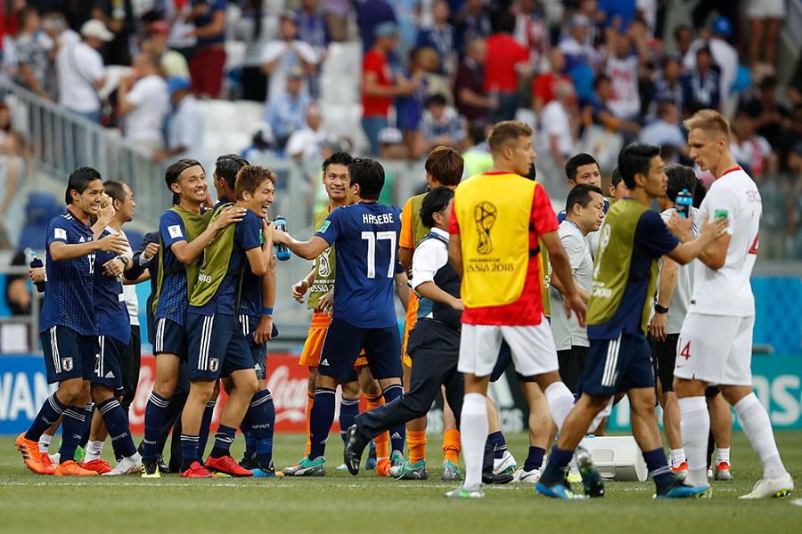 日本隊雖然1球告負,但是仍舊以小組第二名晉級16強。(Julian Finney/Getty Images)