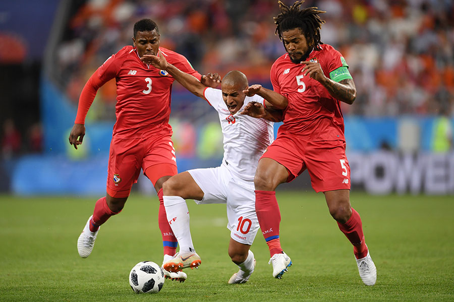 突尼西亞以2:1戰勝巴拿馬,但兩隊無緣進級十六強。(Laurence Griffiths/Getty Images)