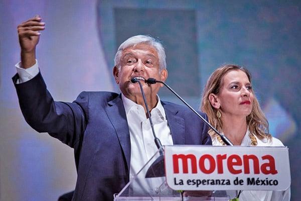 7月2日,墨西哥總統候選人奧夫拉多爾以壓倒性多數勝出。(Getty Images)