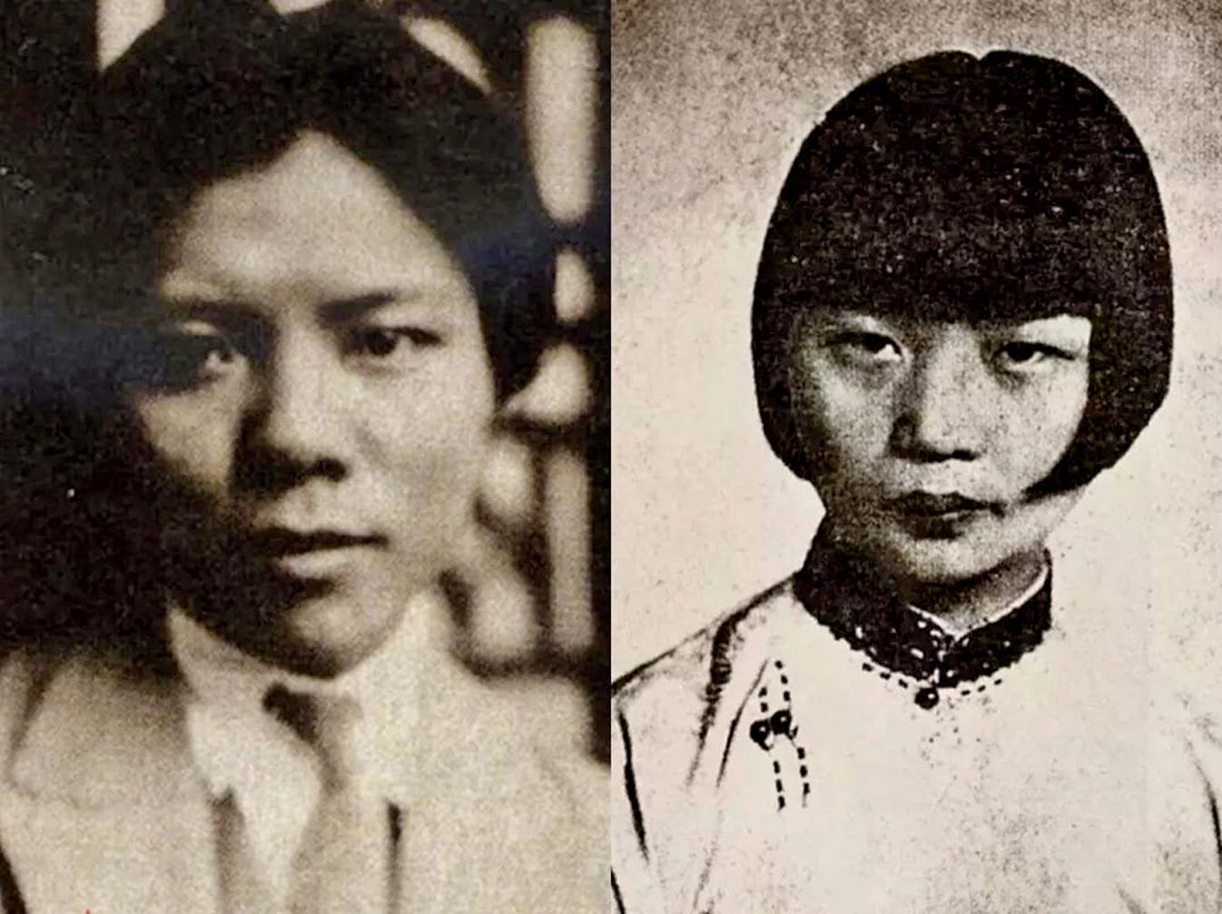 蔡元培的女婿林文錚(左)和女兒蔡威廉(右)。(網絡圖片)