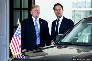 特朗普會晤荷蘭首相 兩國接近達成貿易協議