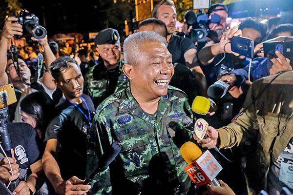 泰國搜救中心發言人1日晚向傳媒宣佈,所有人被尋獲並平安。(Getty Images)
