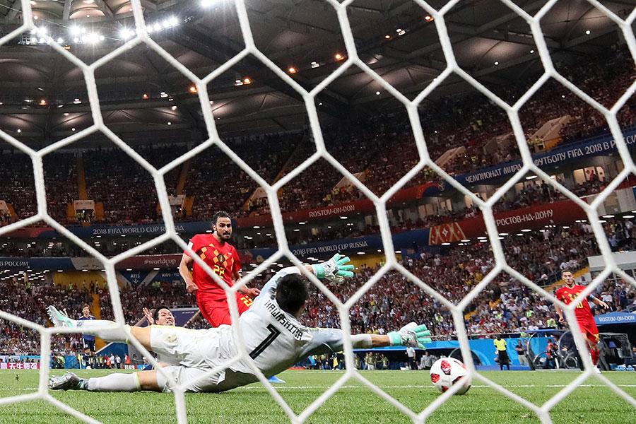 查迪尼(CHADLI)小禁區前輕鬆推射入網將比利時送進8強。(Kevin C. Cox/Getty Images)