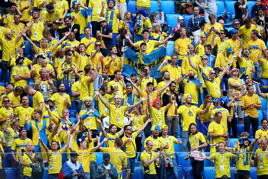 沒有「大伊布」的瑞典隊居然刷新了自己的歷史,難道這麼多年都被伊布耽誤了?(Alex Livesey/Getty Images)