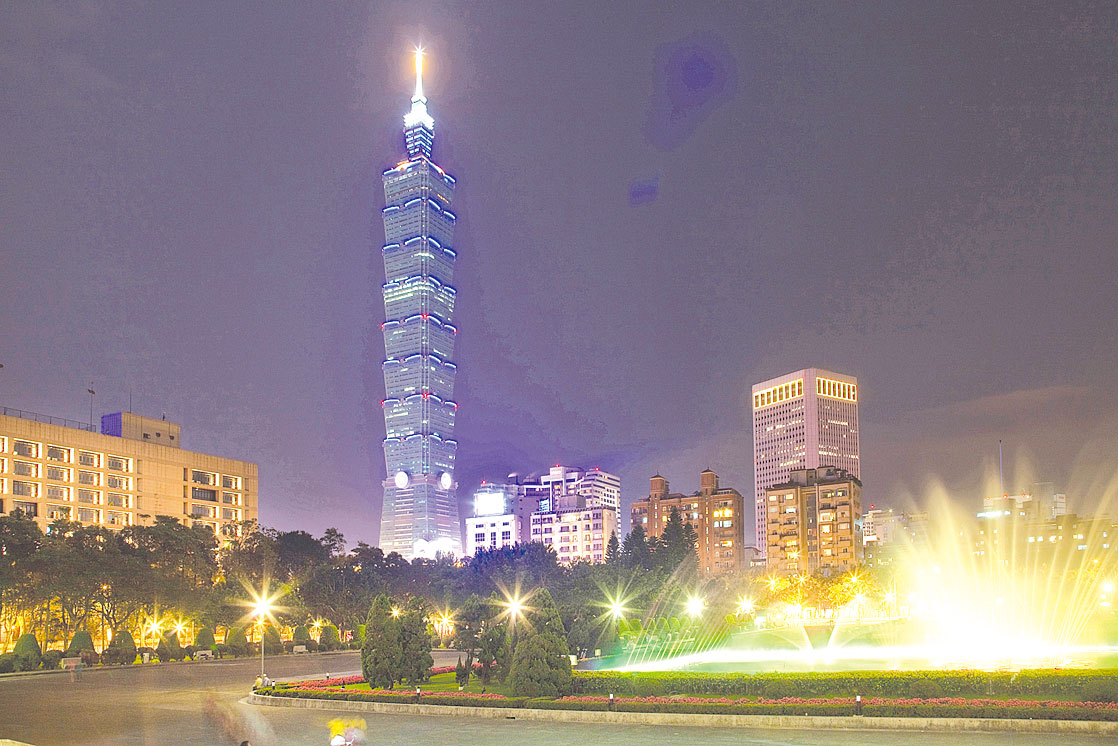 圖為台北夜景。(GettyImages)