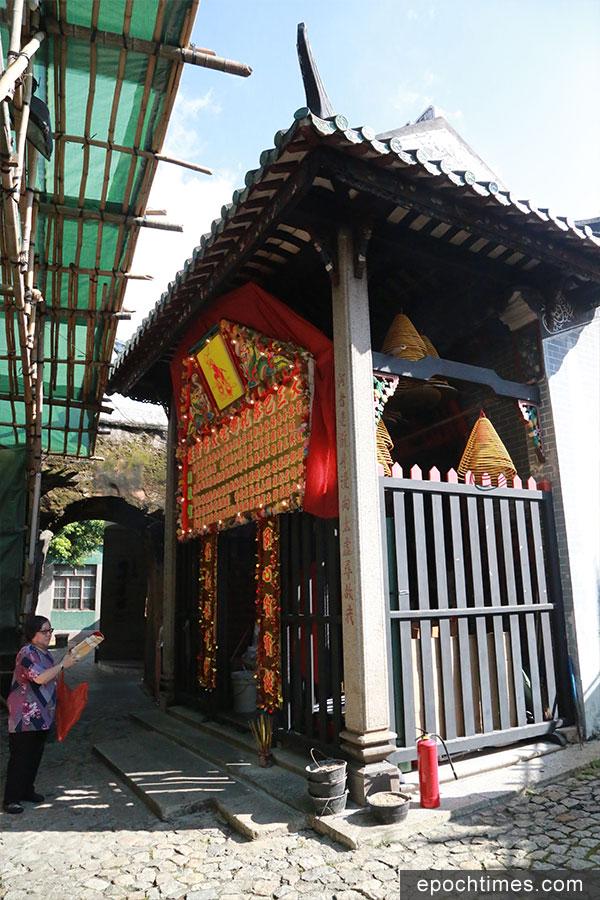 在大三巴牌坊右後側的大三巴哪吒廟,約建於清朝光緒十四年(1888年)。(陳仲明/大紀元)