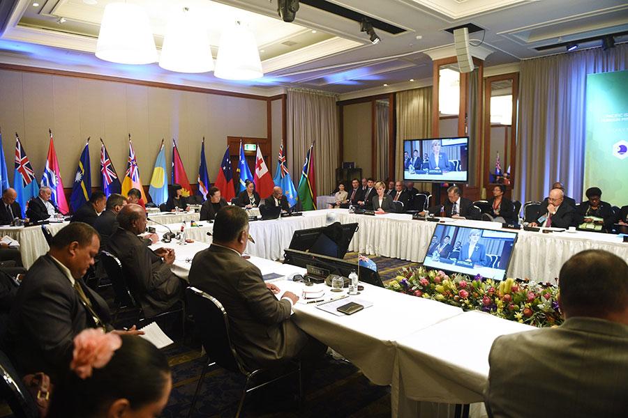 為阻止中共及俄羅斯對太平洋區域的軍事介入,澳洲和新西蘭將與太平洋島國簽署更全面的安全協議。(PETER PARKS/AFP/Getty Images)