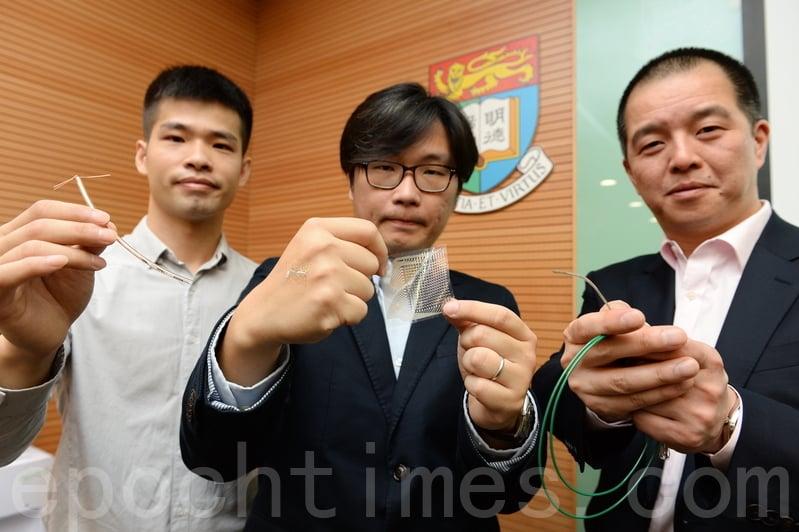 港大工程學院及李嘉誠醫學院合作成功研發超薄感應器,可貼於心臟等器官,有望將檢測炎症速度加快30倍。(宋碧龍/大紀元)