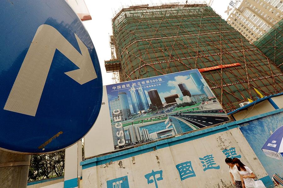 在中美貿易戰期間,曾引發輿論討論中國有幾個核彈會不會爆了,其中之一就是樓市。(MARK RALSTON/AFP/Getty Images)