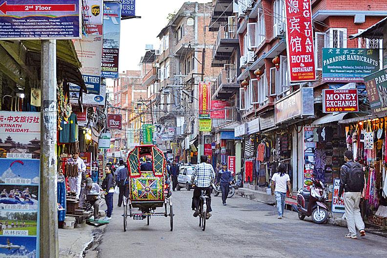 加德滿都街景。(網絡圖片)