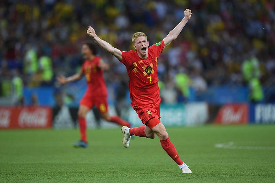比利時隊功臣奇雲迪布尼本場比賽貢獻一傳一射,被評為最佳球員。(Shaun Botterill/Getty Images)