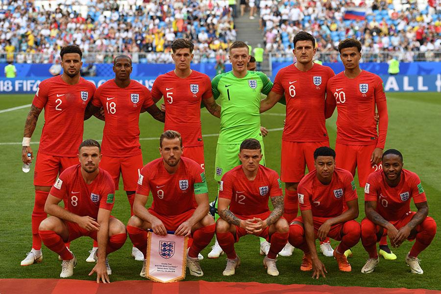 英格蘭力克瑞典,自1990年以來首次晉級世界盃半決賽。(YURI CORTEZ/AFP/Getty Images)