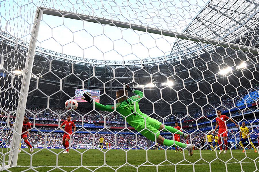 比克福特幾次救險成功,力保英格蘭大門不失,並在賽後被評為本場MVP。(Matthias Hangst//Getty Images)