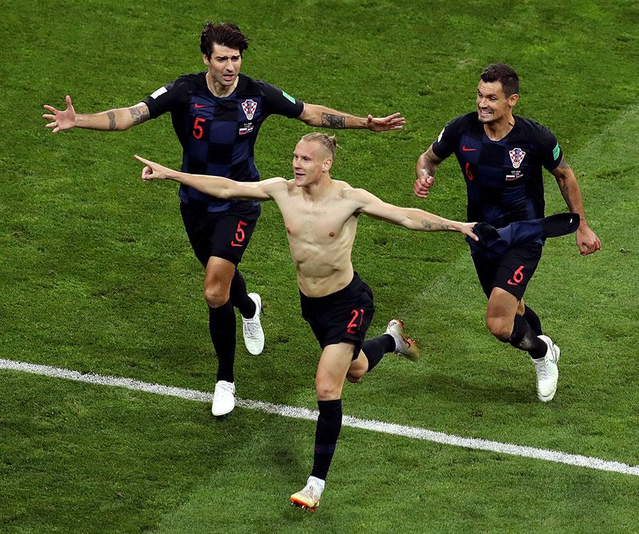 維達的破門幫克羅地亞將比分反超。(Catherine Ivill/Getty Images)