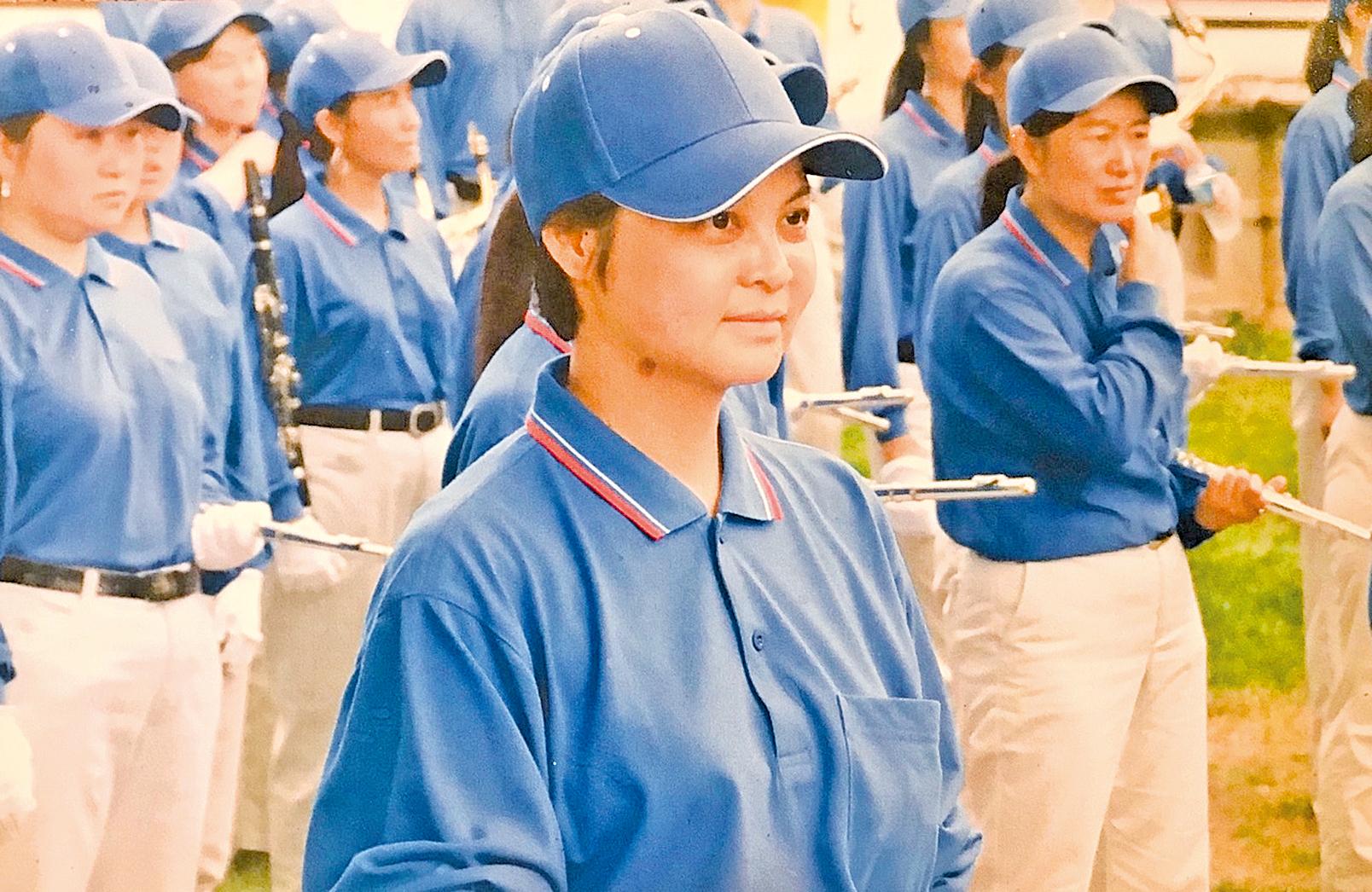 Kathy Ma參加天國樂團的遊行。(Kathy Ma提供)