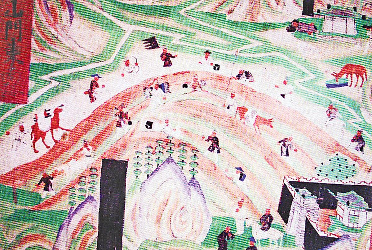 敦煌壁畫中描繪往返於絲綢之路上的商隊。(公有領域)