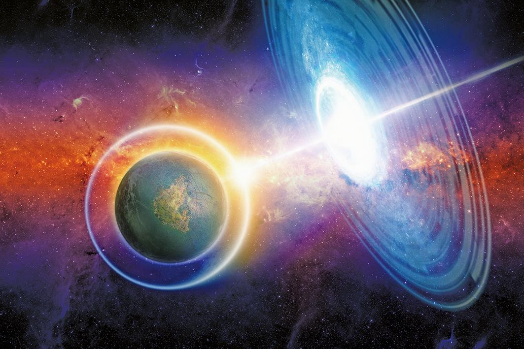 NASA的研究證實,距離地球大約7,500光年的恆星系統海山二(Eta Carinae)會發出宇宙射線,其中一部份朝地球而來。(ShutterStock)