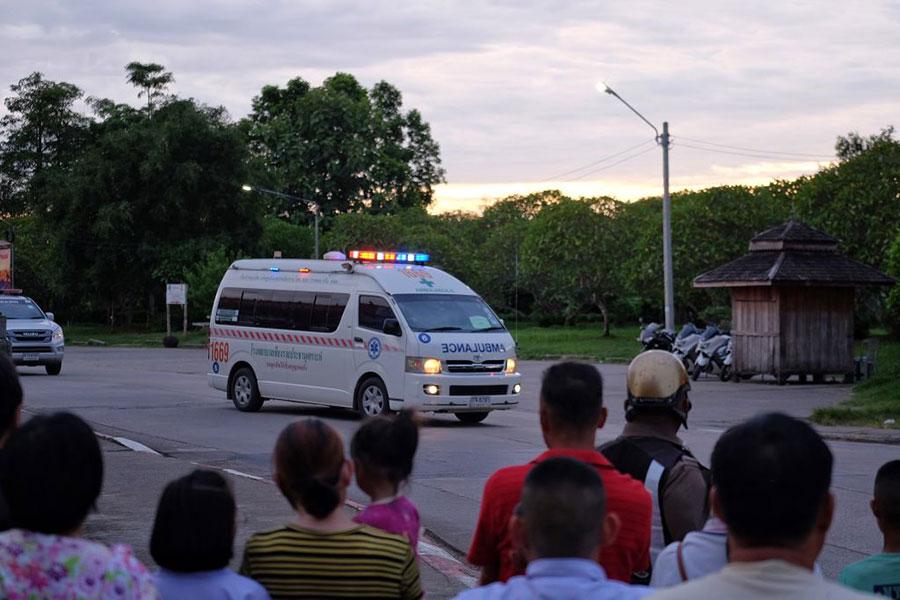 當地時間7月10日晚上,被全球關注的泰國足球隊營救行動結束。(Lauren DeCicca/Getty Images)