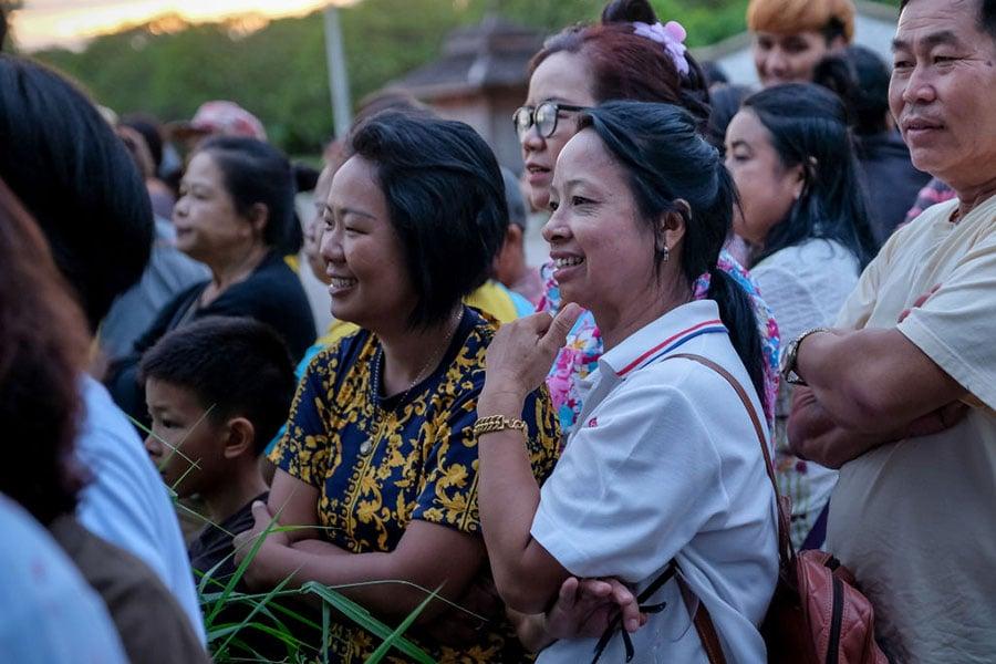 當地時間7月10日晚上,被全球關注的泰國足球隊營救行動結束。(Linh Pham/Getty Images)