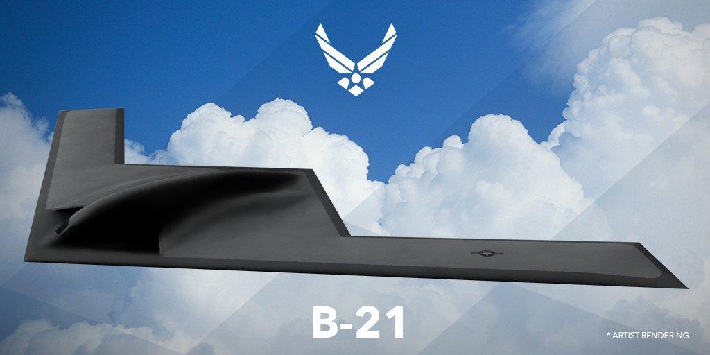 美國空軍打算全面部署新型隱形B-21轟炸機,以替代B-1轟炸機。(美國空軍)