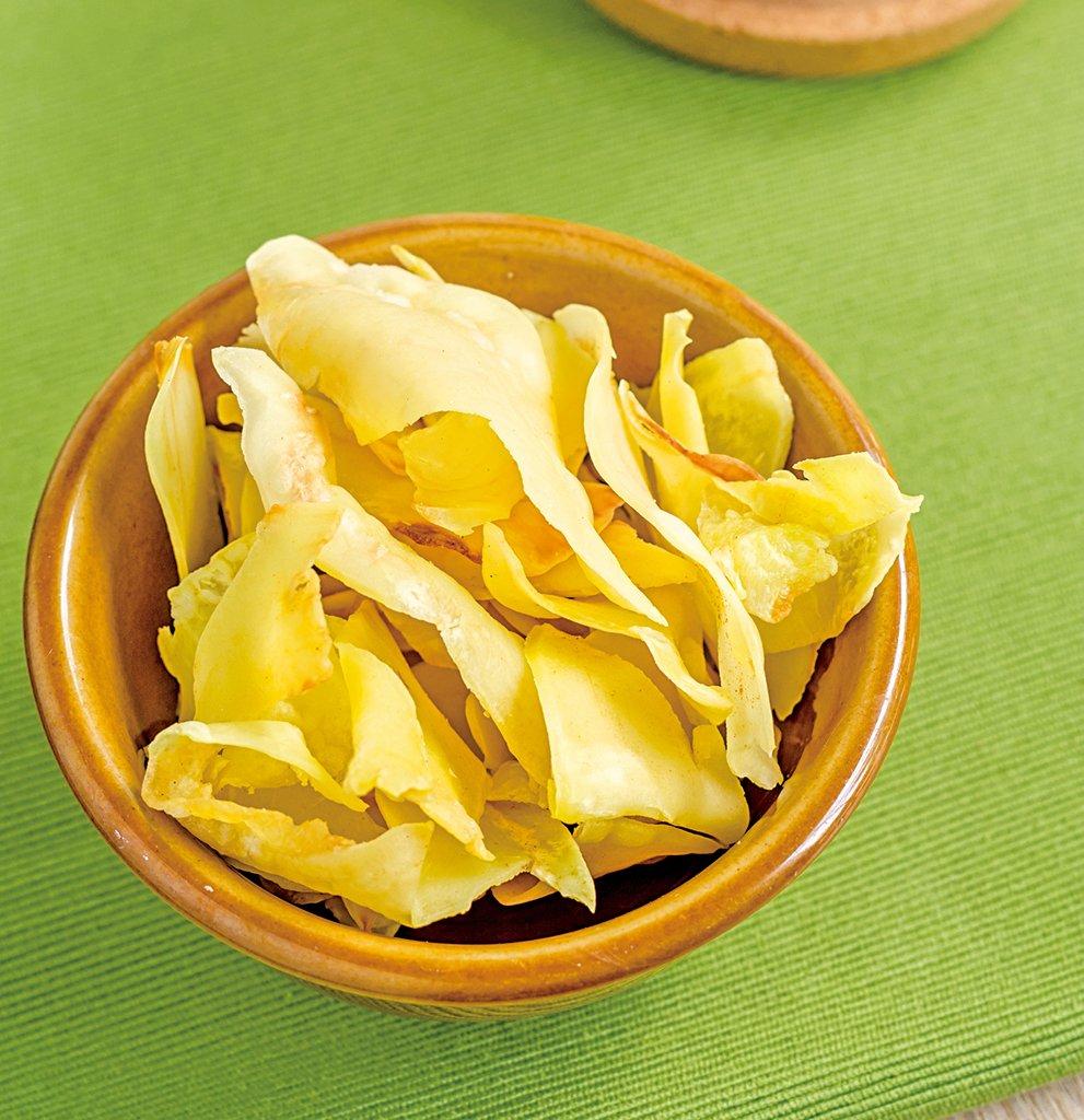 榴槤製成的脆片,可作為零食。