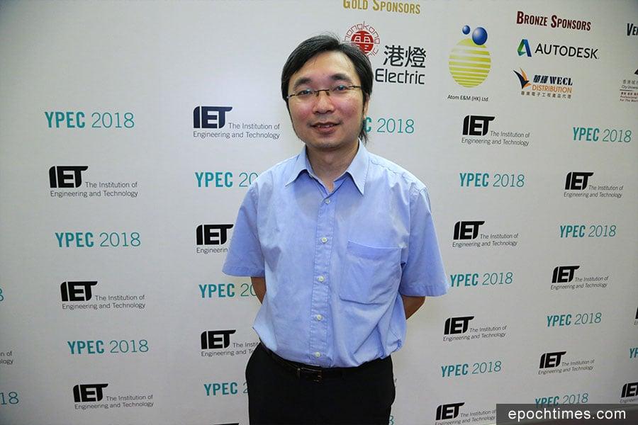 多次擔任比賽評委的香港科技大學胡錦添博士。(陳仲明/大紀元)