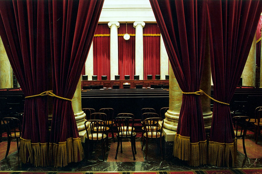 圖為美國最高法院法庭。(US Supreme Court/Franz Jantzen/Courtesy of Getty Images)