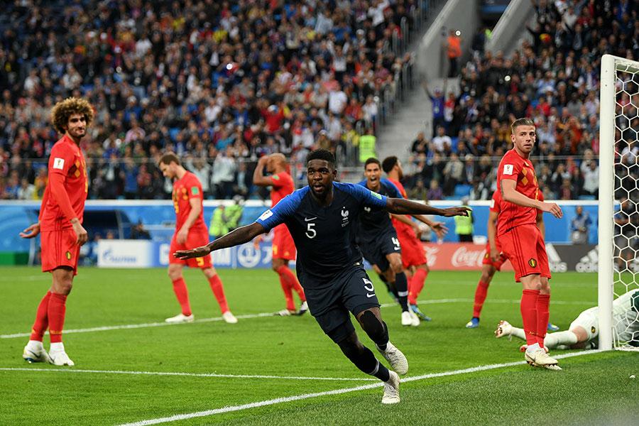 法國隊進球功臣烏姆迪迪。(Shaun Botterill/Getty Images)