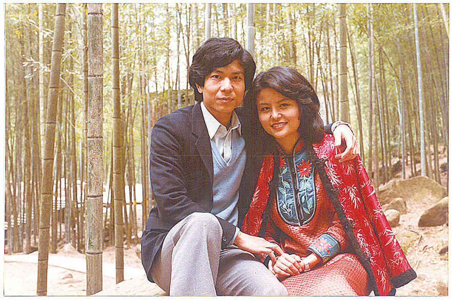 廖書蘭早年和丈夫的合照。(受訪者提供)