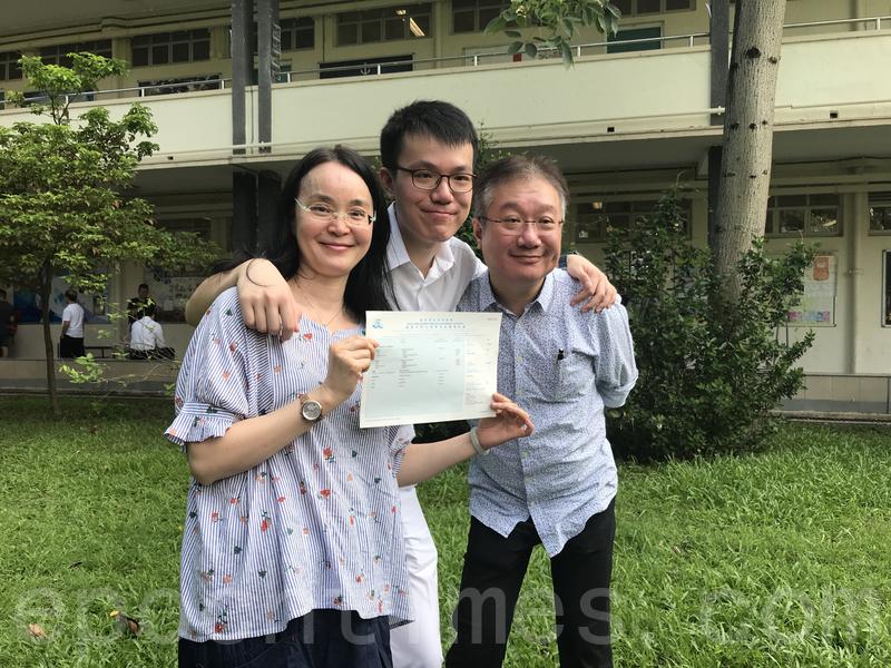 袁瑋謙感謝雙親給他全力的支持。(王文君/大紀元)