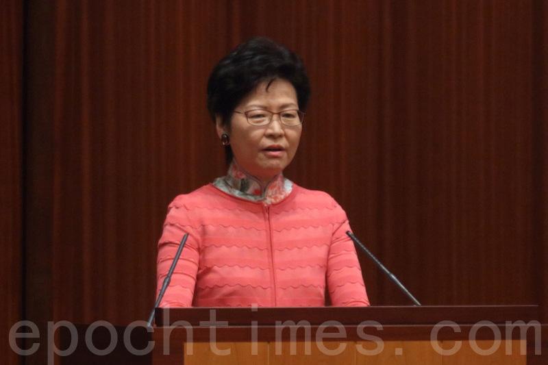 林鄭月娥表示,會考慮再進一步限制香港私人樓房賣給非港人。(蔡雯文/大紀元)