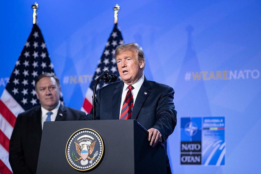 特朗普促盟國大增軍費 秘書長:北約更團結