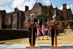 特朗普和英首相聯合記者會:兩國關係最特殊