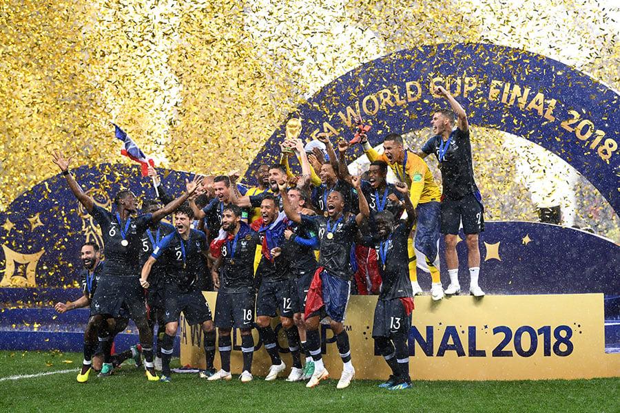 法國奪得2018俄羅斯世界盃冠軍。(Laurence Griffiths/Getty Images)