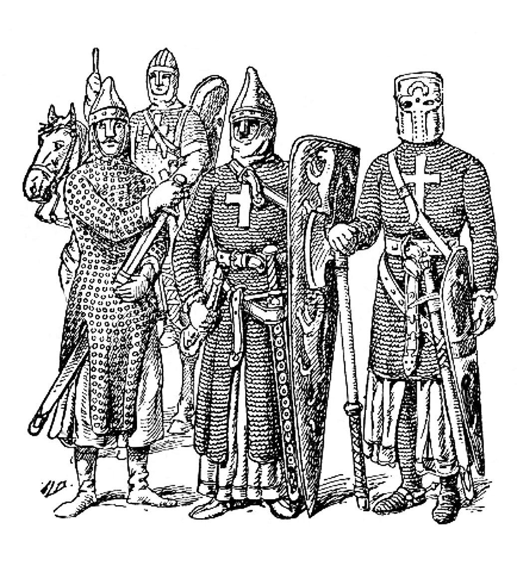 十字軍的裝束。(公有領域)