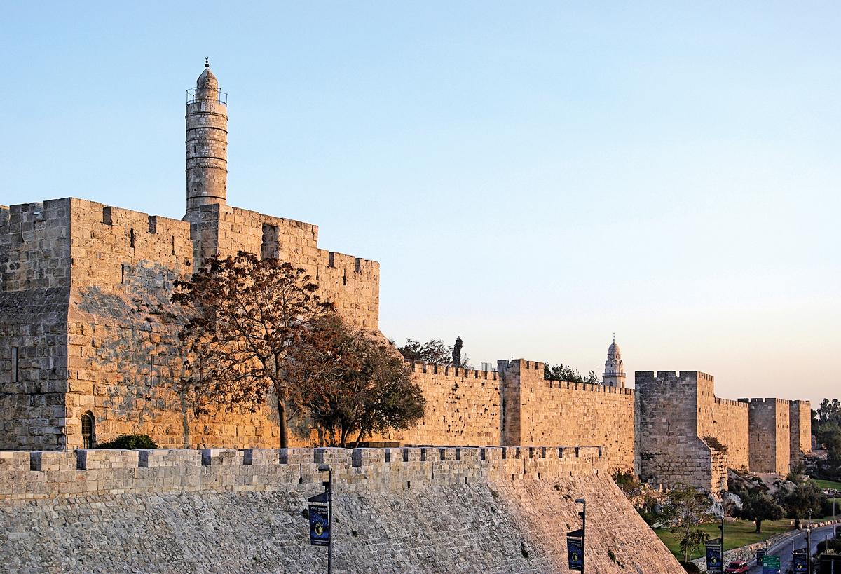 鄂圖曼土耳其占領耶路撒冷後所修築的城牆與堡壘,現被列為聯合國的世界遺產。(公有領域)